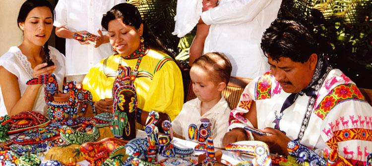 Aldea Huichol de Mexico
